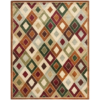 Safavieh Handmade Royalty Tufted Multi-Colored Wool Rug (9' x 12')