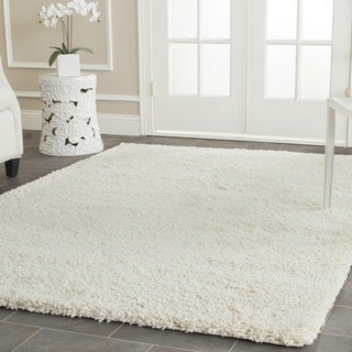 Safavieh California Cozy Solid Ivory Shag Rug (4' Square)