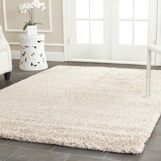 Safavieh California Cozy Solid Beige Shag Rug (4' Square)