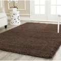 Safavieh Shag Brown Rug (4' Square)