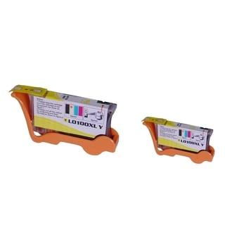INSTEN Yellow Toner Cartridge for Lexmark 100XL (Pack of 2)