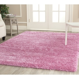 Safavieh California Cozy Solid Pink Shag Rug (6'7 Square)