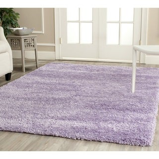 Safavieh California Cozy Solid Lilac Shag Rug (6'7 Square)