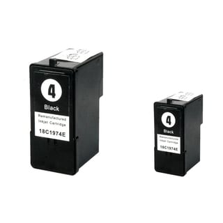 Lexmark 4 Black Ink Cartridge (Remanufactured) (Pack of 2)