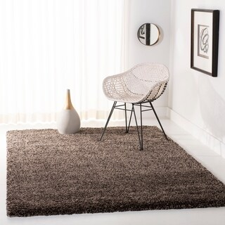 Safavieh California Cozy Solid Mushroom Shag Rug (4' x 4')