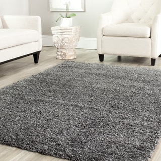 Safavieh California Cozy Solid Dark Grey Shag Rug (4' Square)