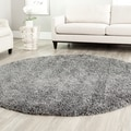 Safavieh Shag Dark Grey Rug (8'6 Round)