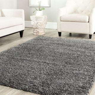 Safavieh California Cozy Solid Dark Grey Shag Rug (8'6 Square)