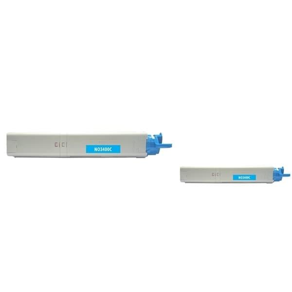 Insten Premium Cyan Color Toner Cartridge 43459303 for OKI C3300/ C3400/ C3520