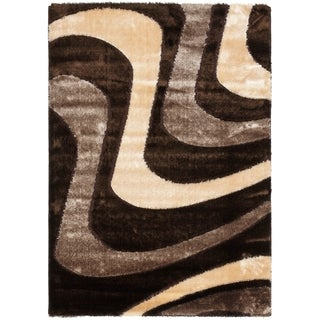 Safavieh Shag Brown/ Beige Rug (8'6 x 12')