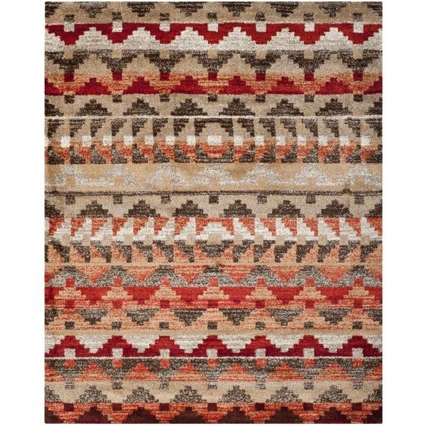 Safavieh Tahoe Beige/ Terracotta Rug (8' x 10')