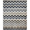 Safavieh Tahoe Grey/ Light Blue Rug (4' x 6')