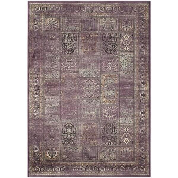 Safavieh Vintage Purple/ Fuchsia Viscose Rug (7'6 x 10'6)