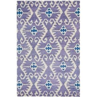 Safavieh Handmade Wyndham Lavender/ Ivory Wool Rug (10' x 14')