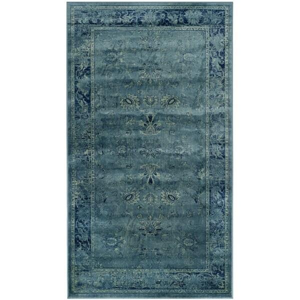 Safavieh Antiqued Vintage Turquoise Viscose Rug (2'7 X 4