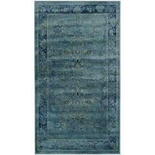 Safavieh Antiqued Vintage Turquoise Viscose Rug (3' 3 x 5' 7)