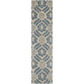 Safavieh Handmade Wyndham Blue/ Grey Wool Rug (2'3 x 11')