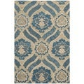 Safavieh Handmade Wyndham Blue/ Grey Wool Rug (3' x 5')