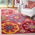 Safavieh Handmade Wyndham Red Wool Rug (2'3 x 4')