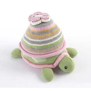 Baby Aspen Turtle Toppers Baby Hat/ Turtle Plush Gift Set