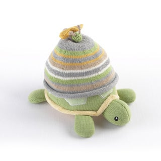 Baby Aspen Turtle Topper Baby Hat and Turtle Plush Gift Set