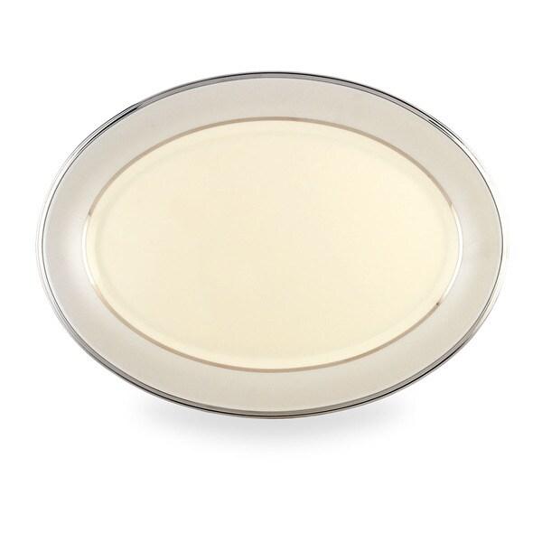 Lenox Ivory Frost 16-inch Oval Platter 11793416