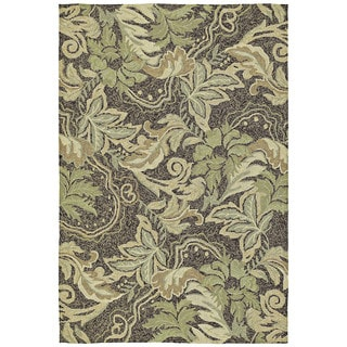 Indoor/Outdoor Fiesta Green Leaves Rug (9' x 12')