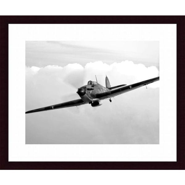 'A Hawker Hurricane aircraft in flight' Framed Print