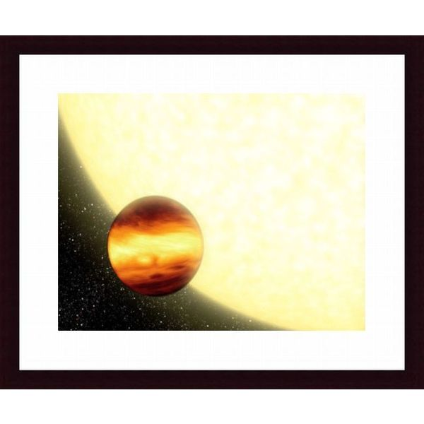 'A gas-giant planet orbiting very close to its parent star' Framed Print