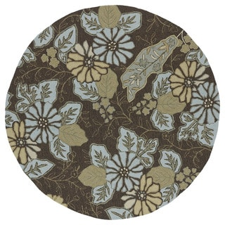 Indoor/Outdoor Fiesta Chocolate Island Rug (5'9 Round)