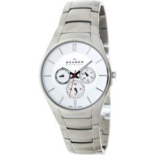 Skagen Men's SKW6002 Classic Silver Tone Link Watch
