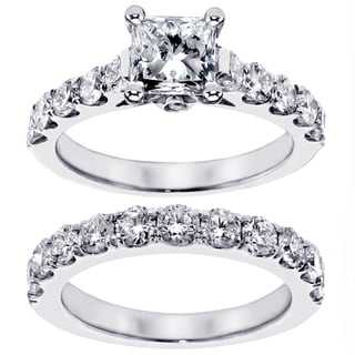 Platinum or 14K Gold 2 3/4ct TDW Diamond Bridal Ring Set (F-G, SI1-SI2)