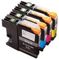 Sophia Global Compatible Brother LC107 Black and LC105 Cyan, Magenta, Yellow Ink Cartridges (Pack of 4)