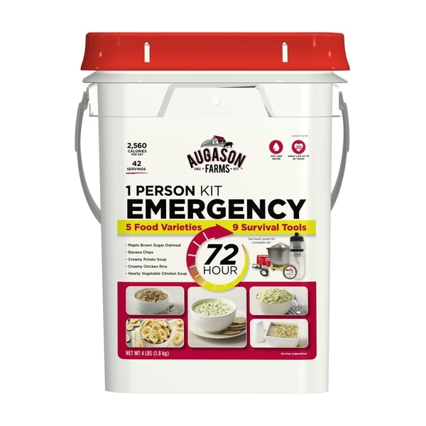 Augason Farms 72-Hour 1-Person Emergency Food Storage Kit with Survival Gear 4 lbs 11793923
