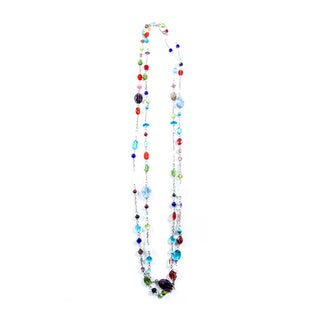 Multicolored Crystal and Glass Bead Necklace (China)