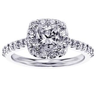 14k/ 18k Gold or Platinum 1 2/5ct TDW Princess Diamond Engagement Ring (F-G, SI1-SI2)
