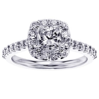 14k/ 18k Gold or Platinum 1 2/5ct TDW Princess Diamond Engagement Ring (F-G, SI1-SI2)
