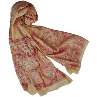 Elephant March Versatile Scarf Sarong Beach Wrap (India)