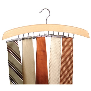 Richards Homewares Natural Hardwood 24-tie Hanger