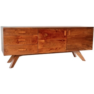 Reclaimed Teak Wood Mid Century Credenza (Indonesia)