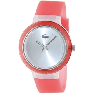 Lacoste Women's 'Goa' Pink Silicone Strap Watch
