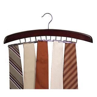 Richards Homewares Walnut Closet Accessories 24-tie Hardwood Hanger