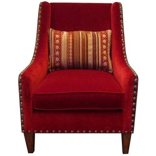 Ventura Madison Chenille & Leather Accent Chair