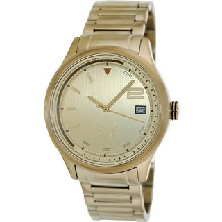 Puma Men's 'Wheel' Goldtone Stainless Steel Watch