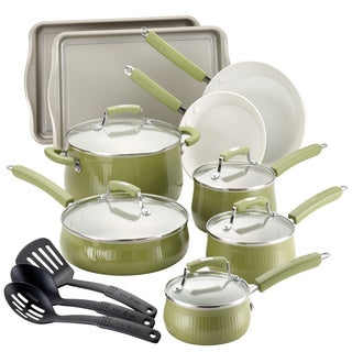 Paula Deen Savannah Collection Pear 17-pc Aluminum Cookware/ Bakeware Set
