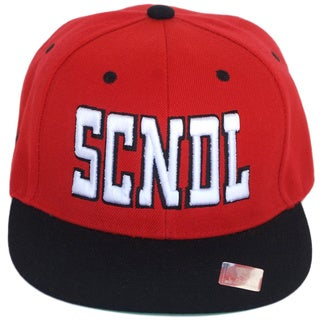 CYL Apparel Red and Black 'SCNDL' Snap-back Hat