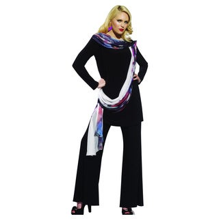 Women's Black 3-piece Pant, Tunic and Scarf Set