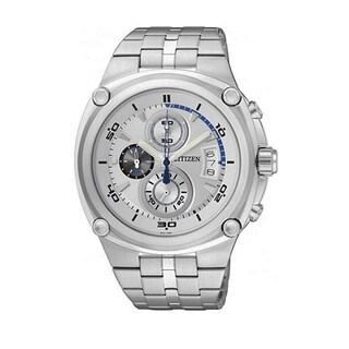 Citizen Men's Chronograph Silver Stainless Steel Quartz Watch