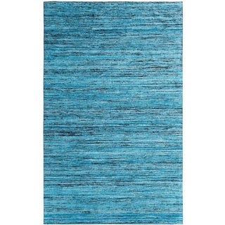 Hand-tufted Loft Varigated Stripe Multi/ Blue Rug (8' x 11')
