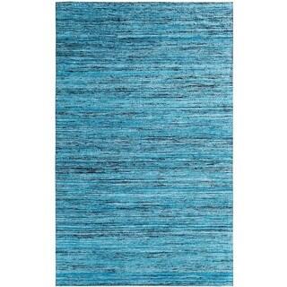 Hand-tufted Loft Varigated Stripe Multi/ Blue Rug (5' x 8')